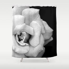 Rose Monochrome Shower Curtain