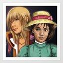 Sophie and Hauru by linoillustration