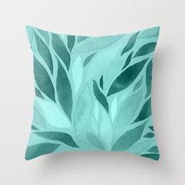 Abstract Watercolour Leaf XVI Throw Pillow