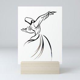 Sufi Meditation Whirling Dervish Mini Art Print