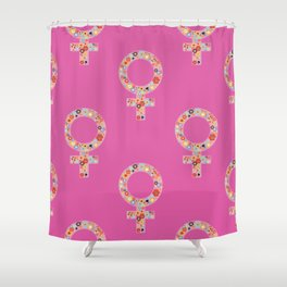 Fearless Female Pink Shower Curtain
