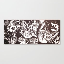 lots of cats Canvas Print