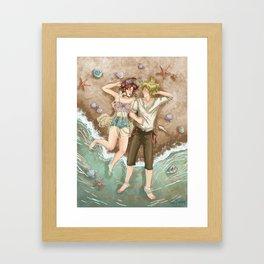 Among seashells Framed Art Print