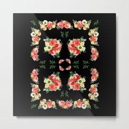 Tiny Blütenschön Black Metal Print