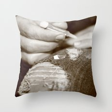 Fake it Throw Pillow