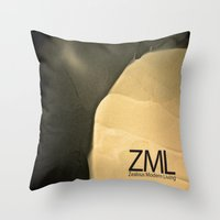 tomb raider Throw Pillows featuring Tomb by ZML Zealous Modern Living