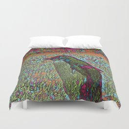 Abstract Penguin Duvet Cover