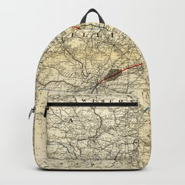 Toledo, Cincinnati, & St. Louis Railroad Map (1881) Backpack