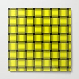 Large Yellow Weave Metal Print
