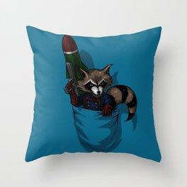 POCKET ROCKET Throw Pillow