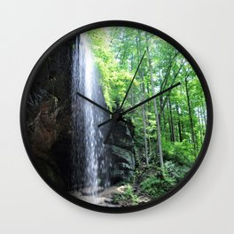 Moore Cove Falls Wall Clock