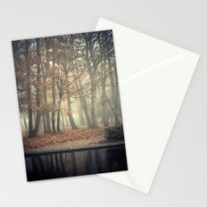 Trees in mist Stationery Cards