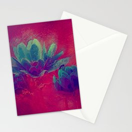 Abstract floral painting Stationery Cards