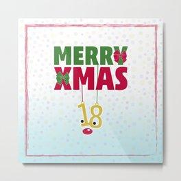 Merry Xmas 18 Metal Print