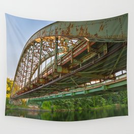 Rusted Sunset Bridge Wall Tapestry