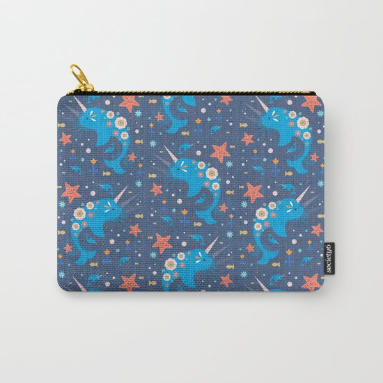 Narwhal & Babies  Carry-All Pouch