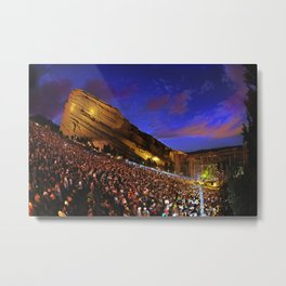 Sublime with Rome Live at Red Rocks - Concert Poster Metal Print