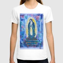Virgen de guadalupe in blue T-shirt