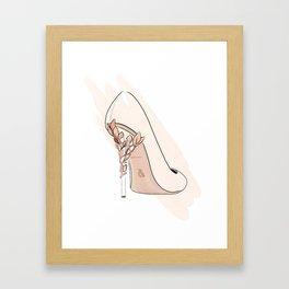 Beige Shoe Framed Art Print