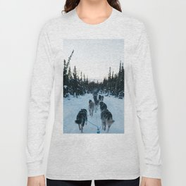SNOW - HUSKIES - SLED - FOREST Long Sleeve T-shirt