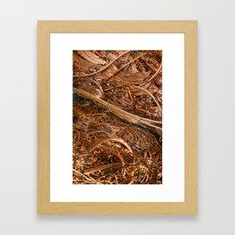 Copper Abstract Framed Art Print