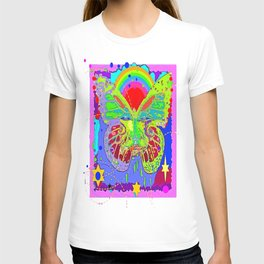 Lime Green Butterfly Face Rainbow for Kids T-shirt