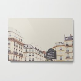 Place Sartre Beauvoir Metal Print