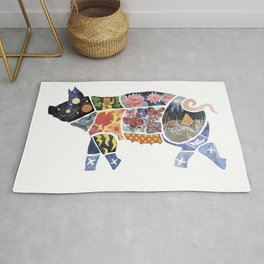 New Year pig Rug