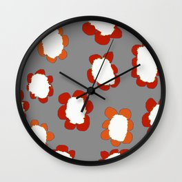 Daisies on Putty pattern Wall Clock