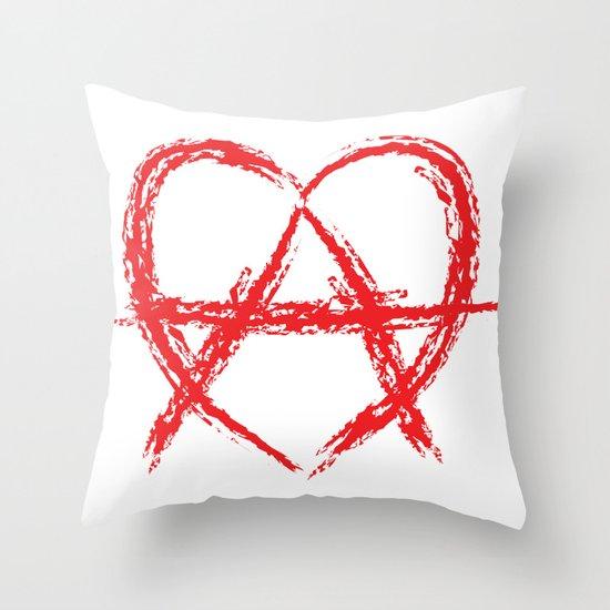 Anarcheart Throw Pillow