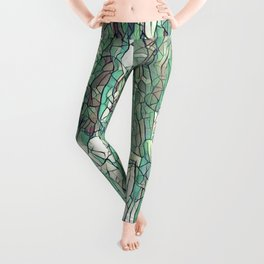 Abstract green Leggings