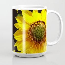 Large Sunflowers on a black background - #Society6 #buyart Coffee Mug
