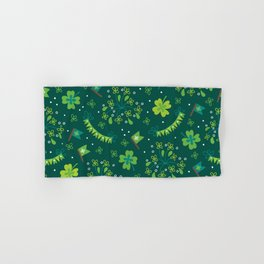 St Patrick's Day Lucky Shamrock Party Hand & Bath Towel