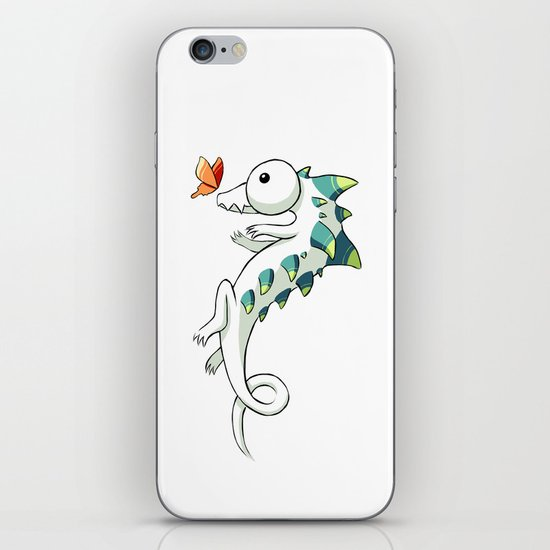 Crocodile and a Butterfly iPhone & iPod Skin