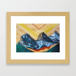Three Sister Mountains Framed Art Print