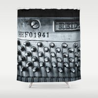 piano Shower Curtains featuring Piano 01A by premedia
