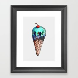 Ice Cream Skull Framed Art Print