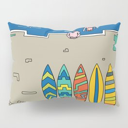 Afternoon at the beach (b) Pillow Sham