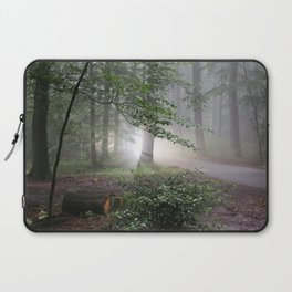 Creepy Light in the Forest Laptop Sleeve