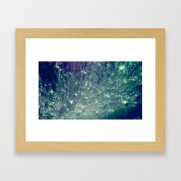 Ice Bubble Explosion Framed Art Print
