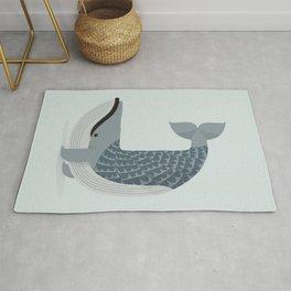 Whimsical Blue Whale Rug