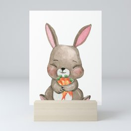 Sweet Bunny Women Kids T-Shirt Mini Art Print