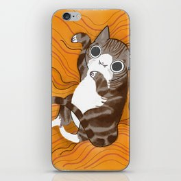 Reclining Kitten iPhone Skin