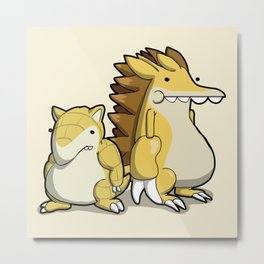 Pokémon - Number 27 & 28 Metal Print
