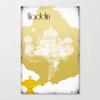aladdin Canvas Prints featuring Aladdin by Nicholas Hyde