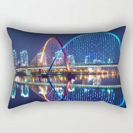 Magnificent Expo Bridge At Gap River Daejeon South Korea Asia Ultra HD Rectangular Pillow