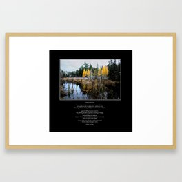 A Song Softly Sung Poem and Image Framed Art Print