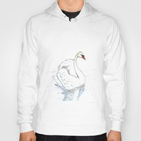 swan Hoodies featuring Swan by R.E.L