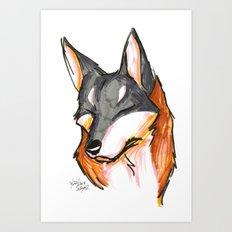 Brush Breeds-Saarloos Wolfhound Art Print