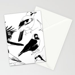 Birds Art Black and White Stationery Cards